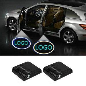 2 шт. светодиодный светильник для двери автомобиля с логотипом лазерный проектор для Citroen C4 C5 C3 C2 C4L C1 C6 DS3 DS4 DS5 DS6 DS7 C-Elysee C3-XR SUV 2019