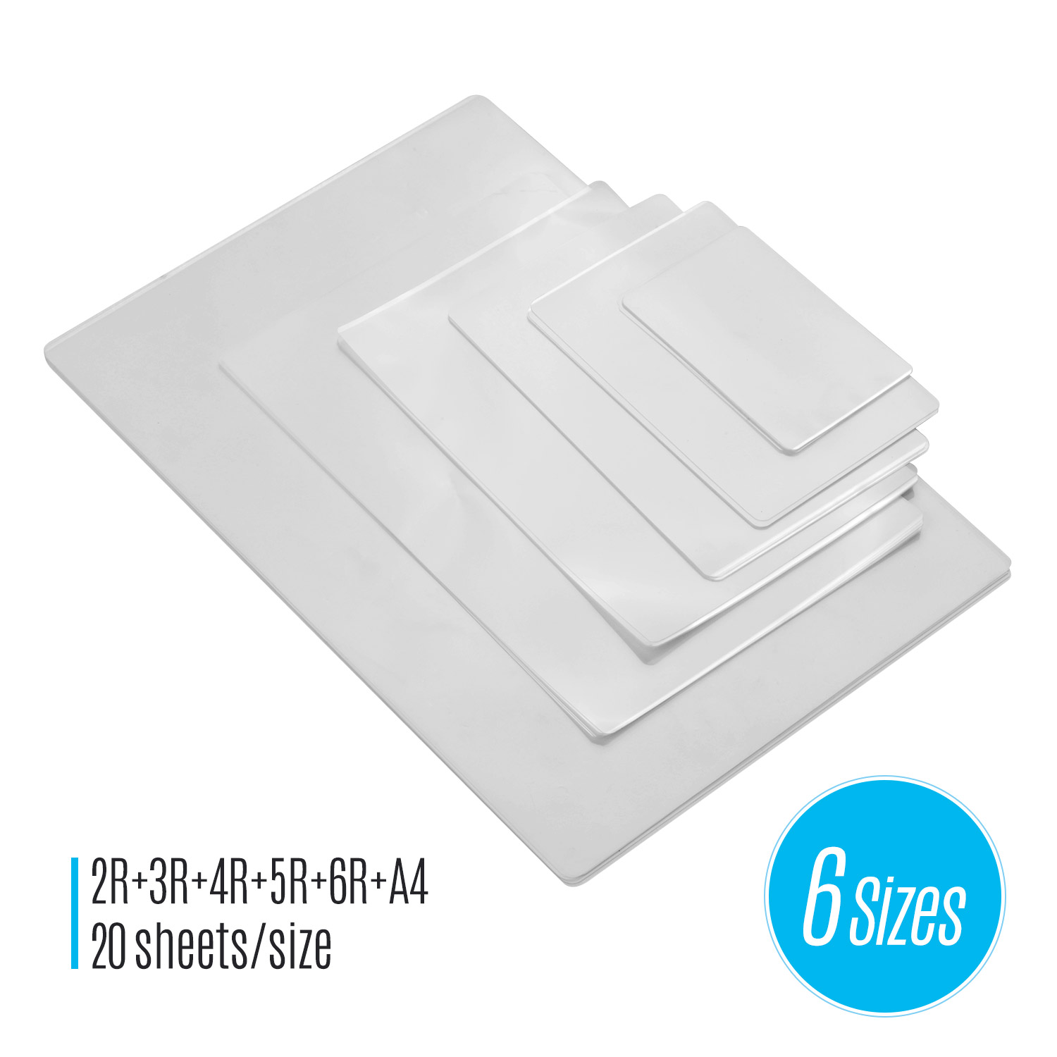 80mic Thermal Laminating Film Pouches PET Clear Sheet Photo Paper Document Picture Lamination For Laminating Machine Laminator