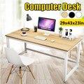 Быстрая доставка в США, современный офисный стол, компьютерный стол, стол для ноутбука, учебный стол, Металлическая стальная рама, легкая сб...