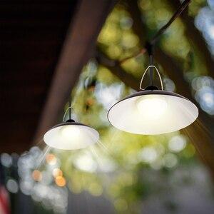 Image 2 - ضوء الشمس مع لوحة طاقة شمسية معلقة لمصباح إضاءة خارجية للطاقة الشمسية في الأماكن المغلقة مع 9.8FT الحبل ضوء الشمس قلادة سقف الشرفة