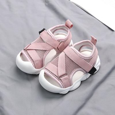 Image 2 - Детские сандалии 2020 летняя новая детская обувь для малышей сетчатая Нескользящая пляжная обувь для мальчиков и девочекСандалии   -