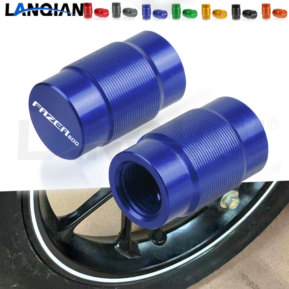 For <font><b>Yamaha</b></font> FZ6S <font><b>FZ6N</b></font> FAZER 600 Motorcycle Aluminum Wheel Tire Valve Stem Caps FAZER 600 FZ 6S FZ 6N 1998-2010 2009 <font><b>Accessories</b></font> image
