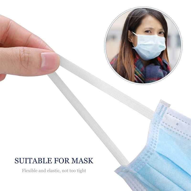 Bandas elásticas para mascarillas de varios tamaños de 3, 6, 8, 10 o 12mm, bandas de goma elástica de 5/10 metros, accesorios de costura DIY 5z