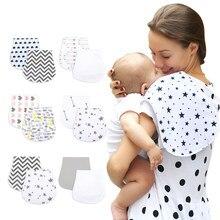 Tissu de rots en coton biologique absorbant, serviette douce et confortable pour bébé, vente en gros, bavoir pour garçon, 2 pièces/lot