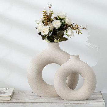 Modern Ceramic Vase for Dried Flowers Decoration Creative Art 1