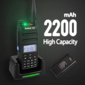 Image 5 - 1 çift Radioddity GD 77 Dual Band çift zaman dilimi dijital iki yönlü telsiz Walkie Talkie telsiz DMR Motrobo katman 1 katmanlı 2 kablo