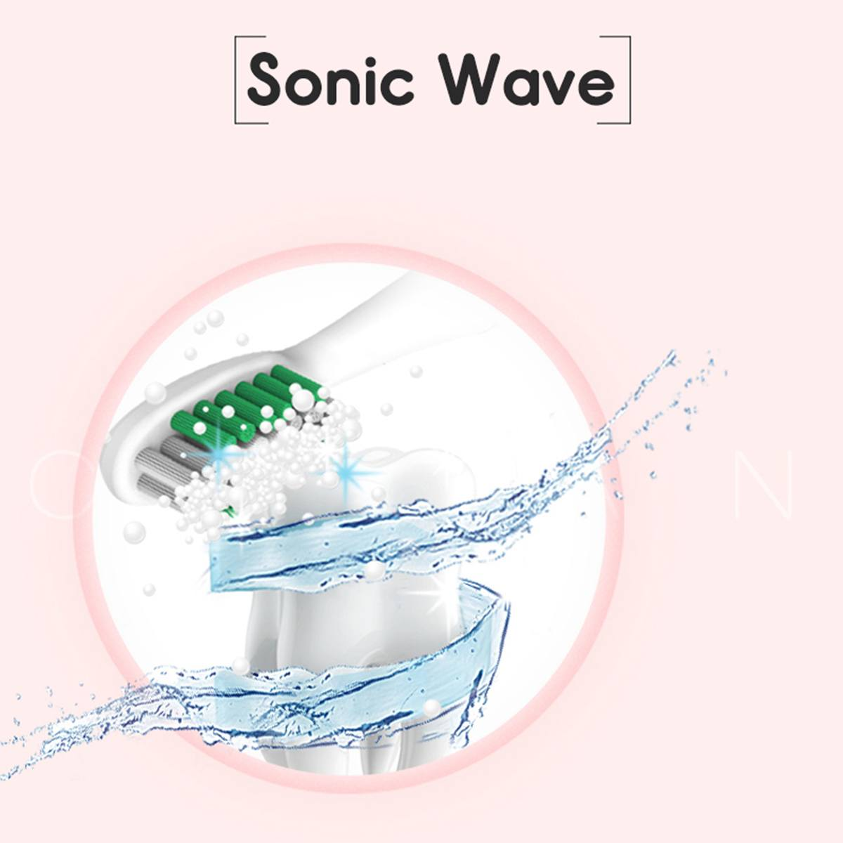 Sonic Electric Toothbrush with 4 Brush Heads Powerful Ultrasonic Automatic Tooth Brush USB Waterproof Whitening Teeth