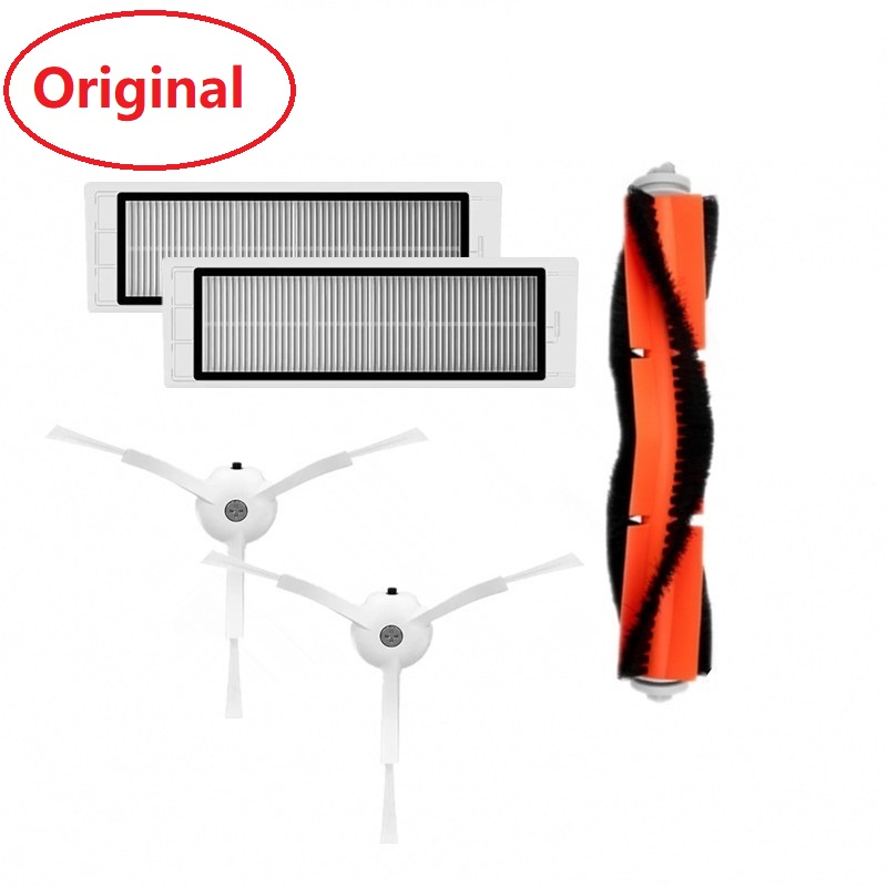 Original Xiaomi Robot Vacuum Part Pack Of HEPA Filter Main Brush Cleaner Tool Side Brush For Xiaomi Roborock Vacuum S50 S51
