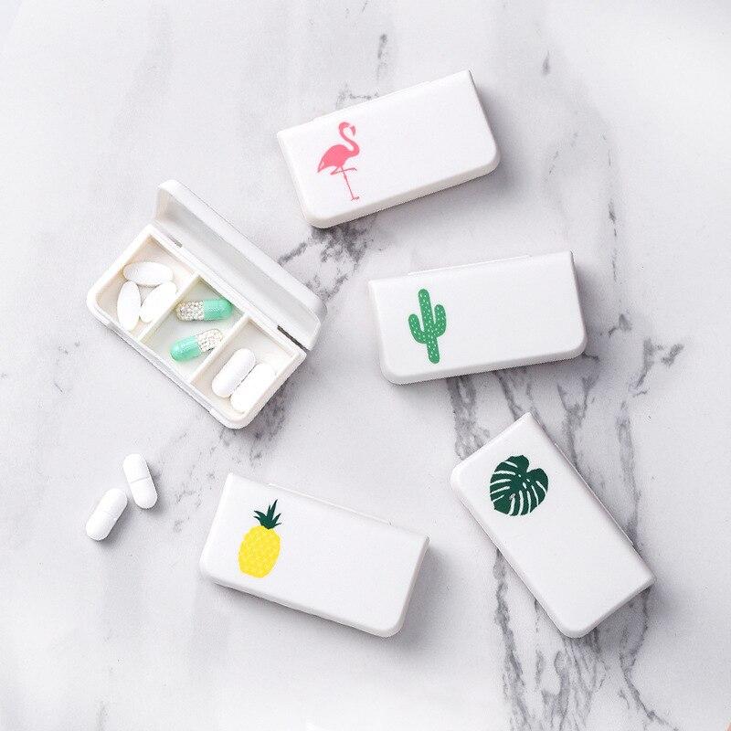 1 szt. Przenośne 3 siatki pudełko do przechowywania pigułek pudełko mini pudełko na pigułki pojemnik dozownik na kosmetyki do makijażu lub biżuterię