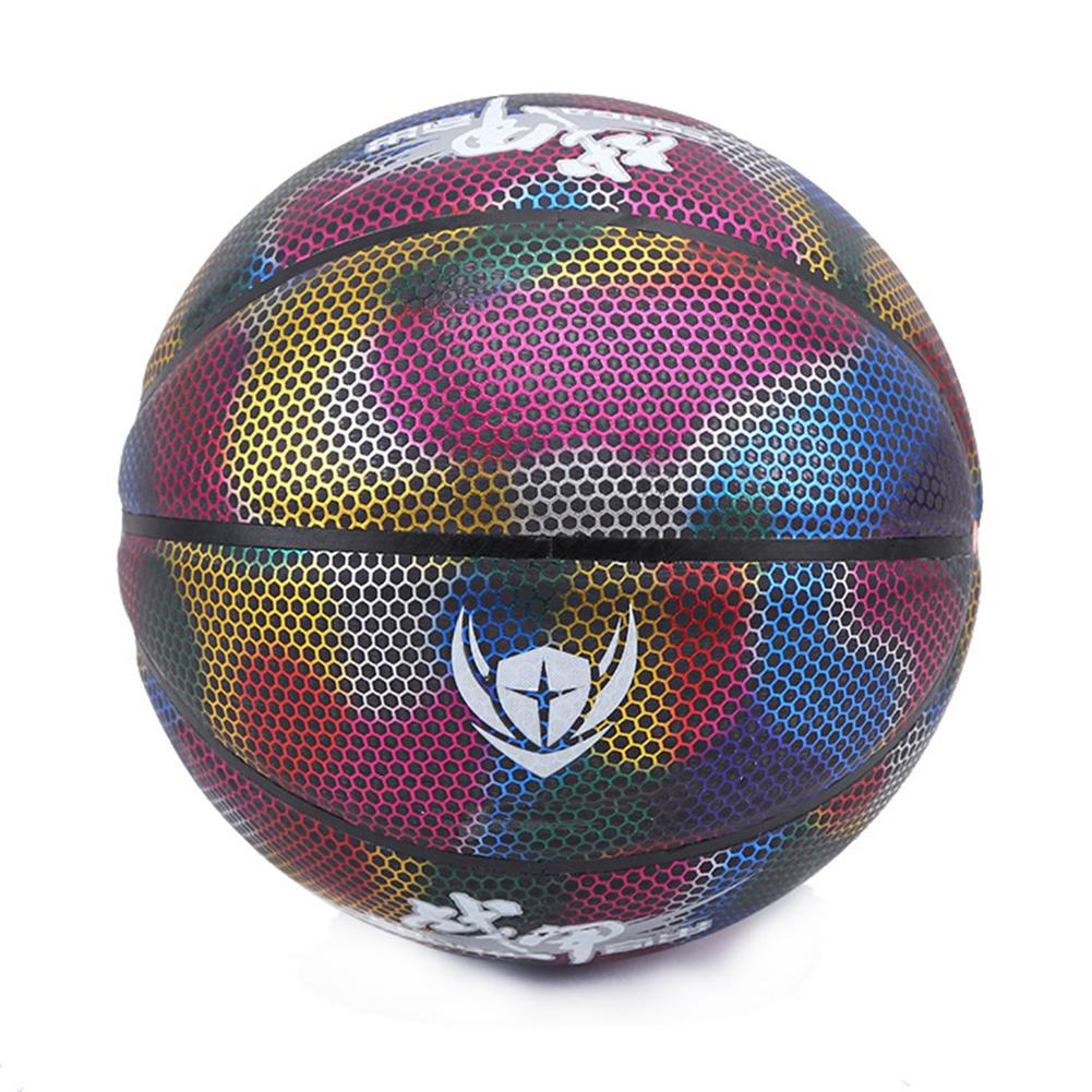 New 2019 Outdoor Indoor Size 7 Glowing Reflective Basketball Luminous Glow Basketball Ball Training For Night Game