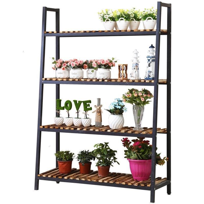 Madera Table Scaffale Porta Piante Estanteria Para Plantas Pot Saksi Standi Balcony Stojak Na Kwiaty Rack Flower Plant Shelf