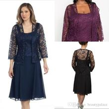 Sexy Navy Blue Mother's Lace mother of the bride