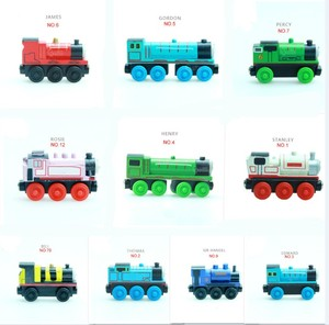 New Wood Train Slot Magnetic Trains Wooden Railway Trains Toy Mini DIY Car Kids Gifts Fit Thom as Biro Tracks