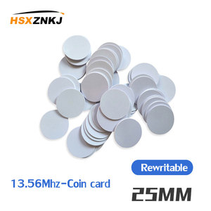 1 / 5pcs 25MM RFID NFC can be used for S50 MF1 13.56 MHz NFC card clone crack can change uid tag 1k sticker, can change 0