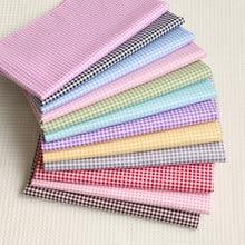 Tissu en coton à carreaux imprimés, patchwork pour bébé, tissu matelassé pour bricolage, literie, couture, tissus de fabrication de robes à la mode