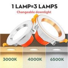 Светодиодный светильник, сменный светильник, встраиваемый круглый светильник ing AC 220 В, точечный светильник, теплый белый, холодный белый, для кухни, внутреннего освещения