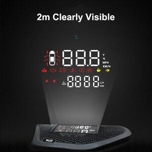 Image 4 - QHCP Auto Head Up Display HD Schermo Del Proiettore HUD Velocità Eccessiva Allarme Rivelatore Nascosto Multifunzione Per Jeep Wrangler 18 JL 19