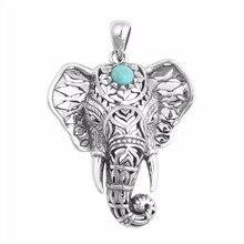 Collar gargantilla de elefante de piedra verde étnico, collares antiguos para mujeres, colgante Vintage, cadena, regalo de Navidad