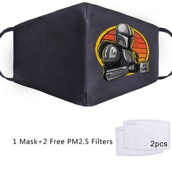 Baby Yoda Mandalorian Cosplay Star Wars Maska Face Mask Adult Kid Washable Masks Masque Reusable PM2.5 Filters Dust Proof Masker