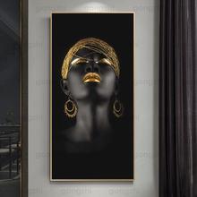 Картина на холсте с изображением скандинавских персонажей Африканская