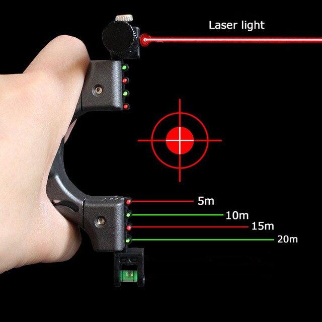 Fronde de visée Laser équipée dun Instrument de niveau pour la chasse aux Sports de plein air en utilisant une catapulte de fronde haute puissance