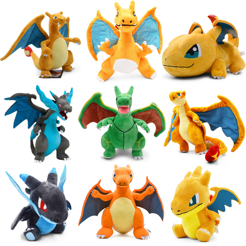 9 Styles Q Version Mega Rayquaza Charizard X Y Mega Charizard Y Mega Evolution Animal Stuffed Peluche Plush Toys For Children in Movies TV from Toys Hobbies
