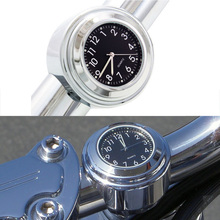 Waterproof Universal Motorcycle Handlebar Loading Clock Accessories 22-25mm Mount Thermometer Watch
