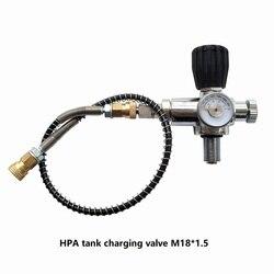 اليوبيل PCP الغوص شحن صمام الهواء ملء محطة الملء محول مع 400bar 6000psi مقياس 50 سنتيمتر ارتفاع ضغط خرطوم M18x1.5