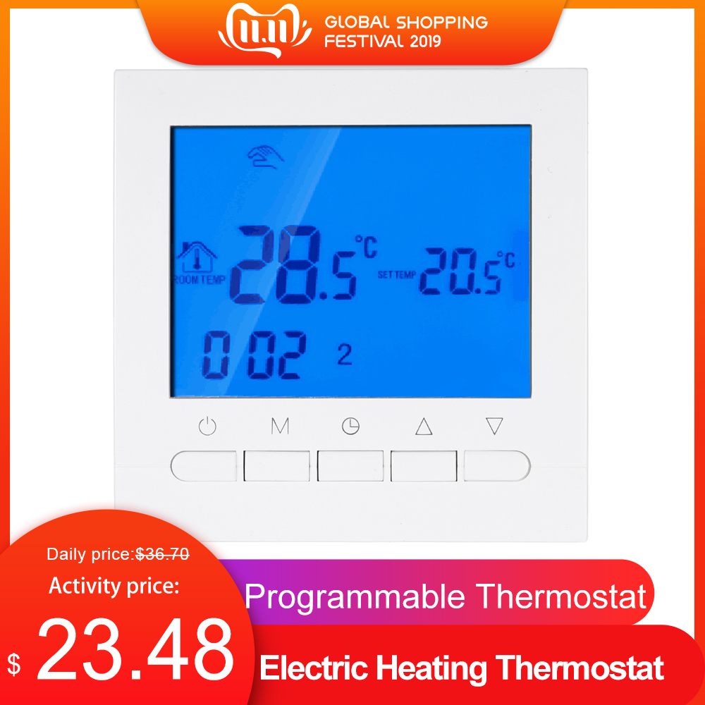 Programmable Thermostat With Wifi Function Electric Heating Thermostat WIFI Temperature Controller With LCD Display Thermostat