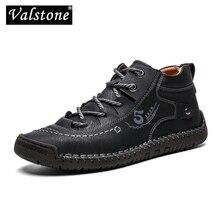 Handmade Shoes Sneakers Boots Male Vintage Valstone Spring Retro Xl-Size 48 Autumn Medium-Cut