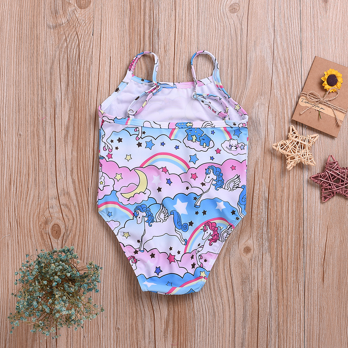 2019 Summer KID'S Swimwear Europe And America Hot Selling Cartoon Unicorn Cute Girls Camisole One-piece Swimming Suit