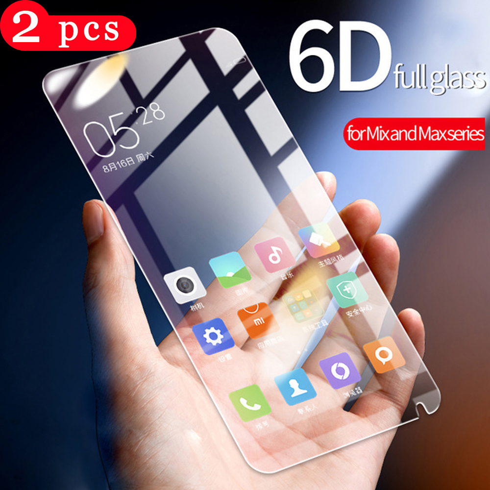 2Pcs tempered glass for <font><b>xiaomi</b></font> <font><b>mi</b></font> <font><b>mix</b></font> <font><b>2</b></font> 2s 3 max <font><b>2</b></font> 3 phone <font><b>screen</b></font> <font><b>protector</b></font> redmi k20 pro pocophone f1 <font><b>mi</b></font> 9T pro protective film image