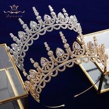 Gold\Silver Royal Princess Full Zircon Bridal Tiaras Headpiece Crystal Crown Head Wear Wedding Dress Wedding Hair Accessory недорого