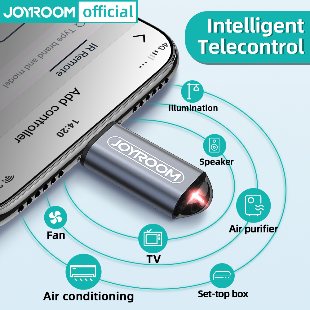 Joyroom IR Appliances Wireless Infrared Remote Control Adapter Mobile Infrared Phone Transmitter For IPhone/Micro USB/Type-C