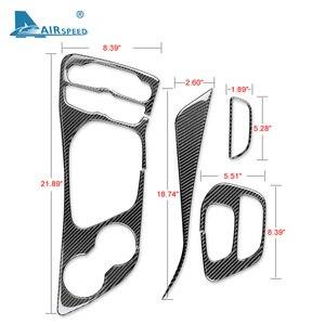 Image 5 - AIRSPEED włókna węglowego dla Dodge Challenger 2015 2016 2017 2018 2019 2020 akcesoria wnętrza samochodu Panel zmiany biegów naklejka na pokrywę