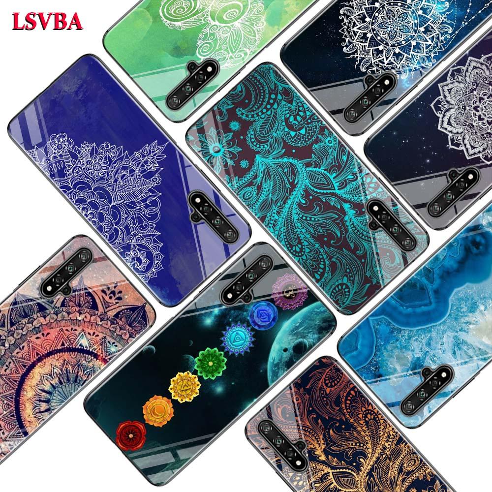 Schwarz Abdeckung Mandala Chakra Yoga für Huawei Ehre 10i 9X8X20 10 9 Lite 8 8A 7A 7C Pro Lite Super Helle Glänzend Telefon Fall