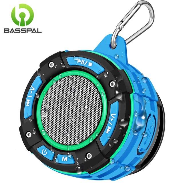 Basspal F021 Tws IPX7 Waterdichte Bluetooth Douche Luidspreker, Draagbare Draadloze Luidspreker Met Led Lichtshow, Fm Radio, zuignap