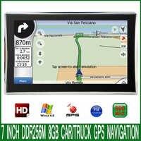 Navegador GPS para gps para coche de camión, dispositivo con parasol MTK windows CE 800 480 Mhz transmisor FM DDR 6,0 M 8GB, 7