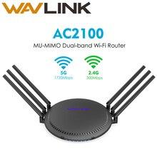 Wavlink AC2100 Router inalámbrico Gigabit de doble banda Wi-Fi Smart Touchlink MU-MIMO extensor de rango 5GHz 1733Mbps 6x5dBi antenas altas