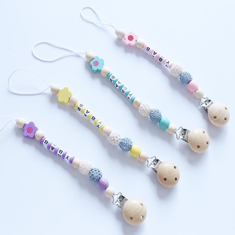 Cartoon Fork Infants Lettered Chain Wooden Color Molar Anti-out Fork Lettered Fork