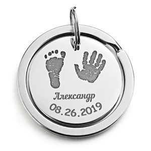 Personalized Baby Keychain Name Date Of Birth Weight Height For Newborn Commemorate Customized Keyring New Mom Dad Gift P026