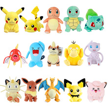 Pokemoned Pikachus plush doll Bulbasaur Squirtle Charmander Charizard Eevee Snorlax Jigglypuff Psyduck kids Christmas gift