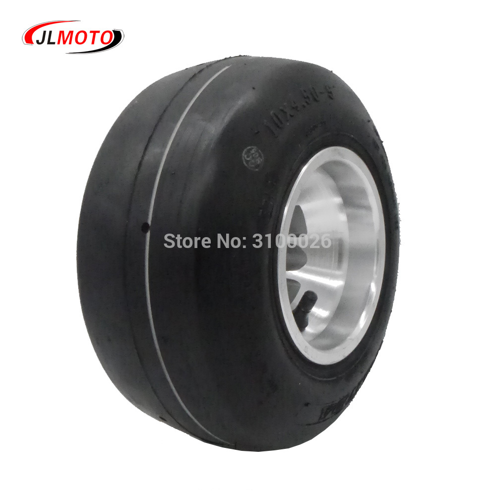 10x4.50-5 5 Inch Racing Wheel Tire with Alloy Aluminium Rim Fit For 168 Go Kart Buggy Front DIY ATV Quad Scooter Bike Parts