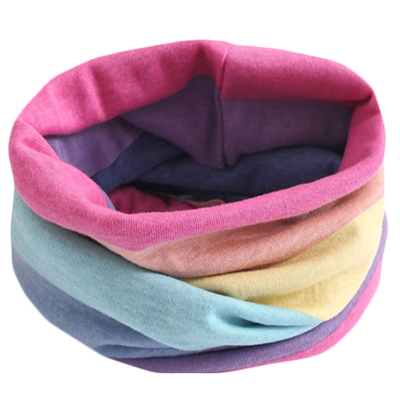 Весенне-осенне-зимний детский хлопковый шарф для От 0 до 10 лет, Детские шарфы с героями мультфильмов, модный теплый воротник - Цвет: 01