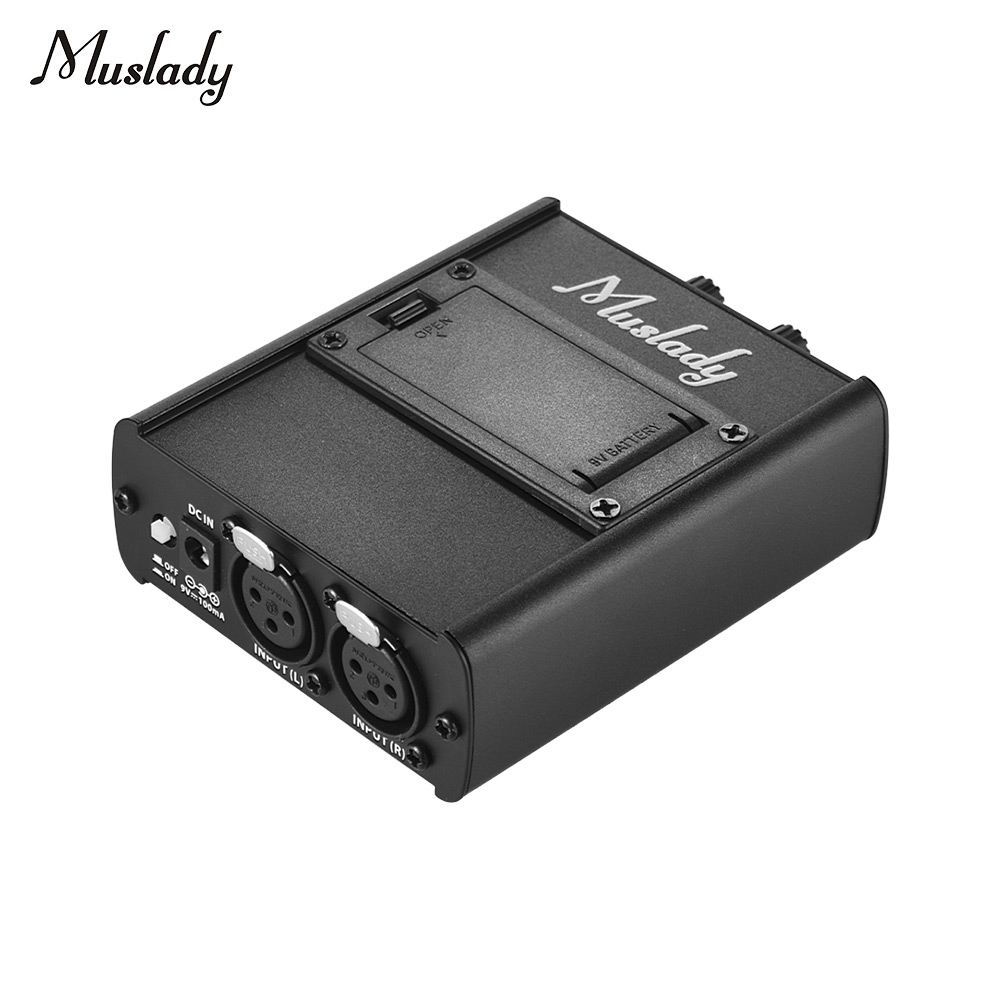 Muslady Personal In-ear Monitor Headphones Earphones Amplifier Amp With XLR Inputs 3.5mm Output Audio Interface