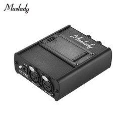 Muslady pessoal in-ear monitor fones de ouvido amplificador amp com entradas xlr 3.5mm saída interface de áudio
