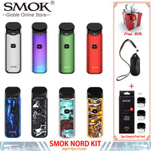 Original Smok Nord Pod vape Kit with 1100mAh Battery 3ML Cartridge mesh coil Electronic Cigarette Vape pod kit vs SMOK novo стоимость