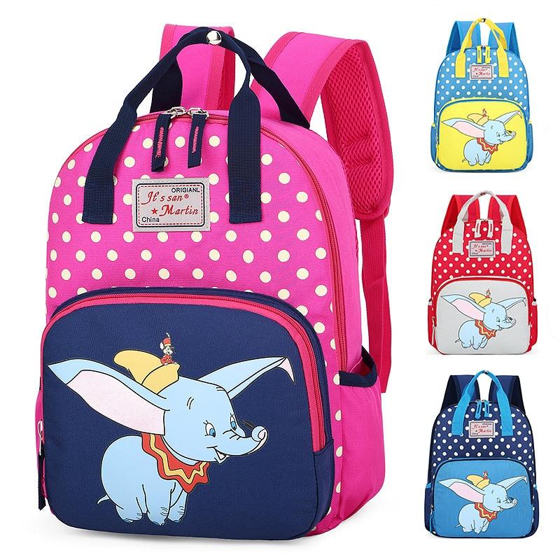 Disney Mini Backpack Kindergarten Dumbo Shoulder-Bag Girl Children's Cartoon Boy Cute