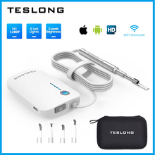 TESLONG 3.9mm WiFi Ear Otoscope Wireless 1280P Digital Endoscope Ear Inspection Camera 6 Leds Ear Cleaning Tool for IOS Android