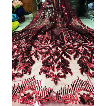 Great popular design mysterious pattern with wonderful sequin dress fabric AF124,Great quality new arrival French Lace Fabric